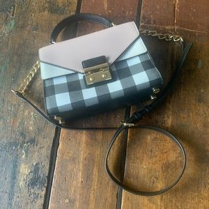 Michael Kors Gingham Sloan Top Handle Satchel